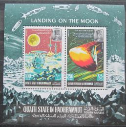 Poštovní známky Aden Qu´aiti 1967 Pøistání na Mìsíci Mi# Block 9 Kat 10€