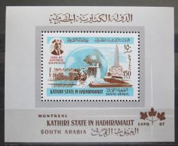 Poštovní známka Aden Kathiri 1967 EXPO Montreal Mi# Block 15 Kat 14€