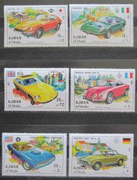 Poštovní známky Adžmán 1971 Sportovní auta Mi# 956-61