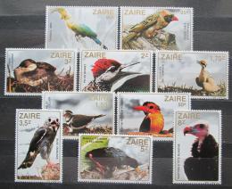 Poštovní známky Zair 1982 Ptáci TOP SET Mi# 792-801 Kat 13€