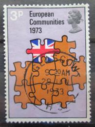 Poštovní známka Velká Británie 1973 Vstup do EHS Mi# 612