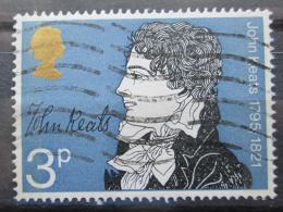 Poštovní známka Velká Británie 1971 John Keats, básník Mi# 577
