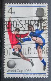 Poštovní známka Velká Británie 1966 MS ve fotbale Mi# 422