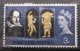 Poštovní známka Velká Británie 1964 William Shakespeare Mi# 366