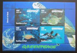 Poštovní známky Niger 1998 Moøské želvy Mi# Mi# 1472-75 Bogen Kat 20€
