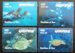 Poštovní známky Niger 1998 Moøské želvy Mi# Mi# 1472-75 Kat 10€