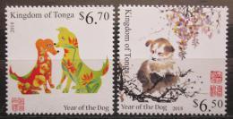 Poštovní známky Tonga 2017 Èínský nový rok, rok psa Mi# Mi# 2171-72 Kat 16.50€