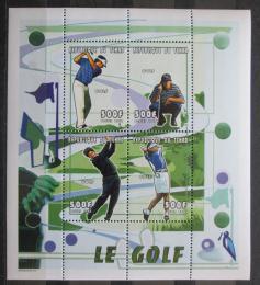 Poštovní známky Èad 2000 Golfisti Mi# 2156-59 Bogen Kat 20€