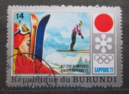 Poštovní známka Burundi 1972 ZOH Sapporo, skoky na lyžích Mi# 847