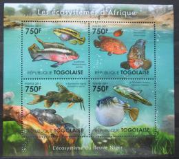 Poštovní známky Togo 2011 Ryby øeky Niger Mi# 4189-92 Kat 12€