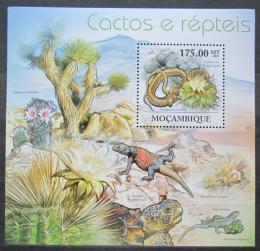 Poštovní známka Mosambik 2011 Kaktusy,obojživelníci a plazi Mi# Block 563 Kat 10€