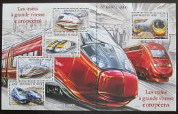 Poštovní známky Niger 2015 Moderní lokomotivy TOP SET Mi# 3652-56 Kat 24€