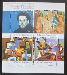 Poštovní známky Svatý Tomáš 2013 Umìní, Pablo Picasso Mi# 5026-29 Kat 10€