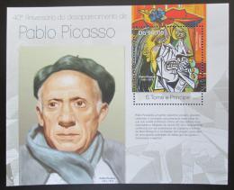 Poštovní známka Svatý Tomáš 2013 Umìní, Pablo Picasso Mi# Block 865 Kat 10€