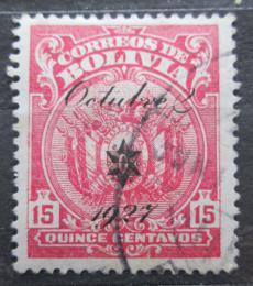 Poštovní známka Bolívie 1927 Státní znak pøetisk Mi# 168