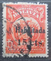 Poštovní známka Bolívie 1923 Státní znak pøetisk Mi# 127