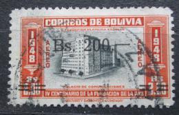 Poštovní známka Bolívie 1957 Budova telekomunikací pøetisk Mi# 567