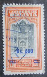 Poštovní známka Bolívie 1957 Kostel San Francisco pøetisk Mi# 562
