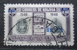 Poštovní známka Bolívie 1957 Státní znak pøetisk Mi# 557