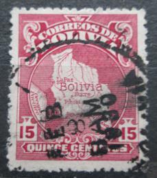 Poštovní známka Bolívie 1928 Mapa zemì Mi# 180
