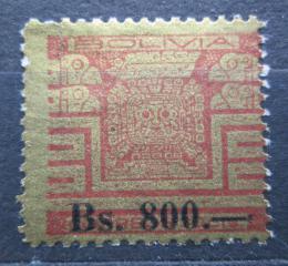 Poštovní známka Bolívie 1960 Sluneèní brána pøetisk Mi# 649