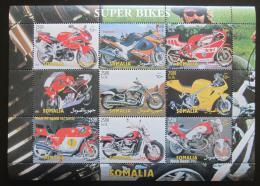 Poštovní známky Somálsko 2001 Luxusní motocykly Mi# N/N