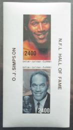 Poštovní známky Batum, Rusko 1998 O. J. Simpson neperf. Mi# N/N