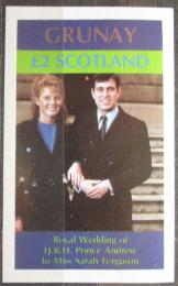 Poštovní známka Grunay, Skotsko 1986 Královská svatba Mi# N/N