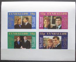 Poštovní známky Eynhallow, Skotsko 1986 Královská svatba neperf. Mi# N/N