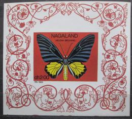 Poštovní známka Nágáland, Indie 1969 Motýl neperf. Mi# N/N