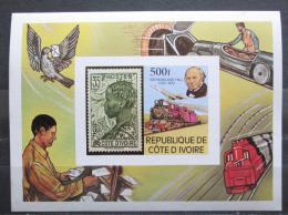 Poštovní známka Pobøeží Slonoviny 1979 Doprava neperf. Mi# Block 14 B Kat 16€