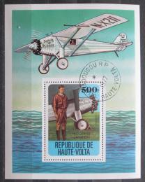 Poštovní známka Horní Volta 1978 Historie letectví Mi# Block 49