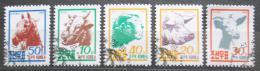 Poštovní známky KLDR 1990 Domácí zvíøata Mi# 3143-47