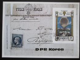 Poštovní známka KLDR 1982 Lety balónem, 200. výroèí Mi# Block 136 Kat 10€