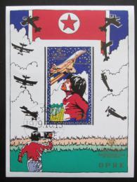 Poštovní známka KLDR 1979 Dìti a letadla neperf. Mi# Block 64 B