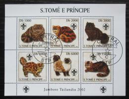 Poštovní známky Svatý Tomáš 2003 Koèky Mi# 2106-11 Kat 10€