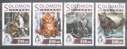 Poštovní známky Šalamounovy ostrovy 2017 Koèky Mi# 4451-54 Kat 12€