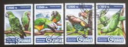 Poštovní známky Guinea 2017 Papoušci Mi# 12301-04 Kat 20€