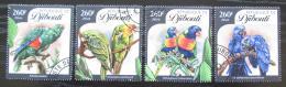 Poštovní známky Džibutsko 2016 Papoušci Mi# 879-82 Kat 12€