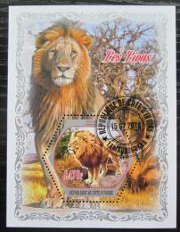 Poštovní známka Pobøeží Slonoviny 2018 Lvi Mi# N/N
