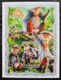Poštovní známka Pobøeží Slonoviny 2018 Opice Mi# N/N