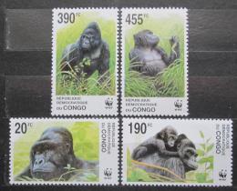 Poštovní známky Kongo Dem. 2002 Gorila východní nížinná, WWF Mi# 1708-11 Kat 12€