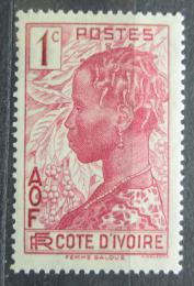 Poštovní známka Pobøeží Slonoviny 1936 Domorodkynì Mi# 112
