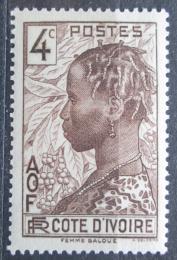 Poštovní známka Pobøeží Slonoviny 1936 Domorodkynì Mi# 115
