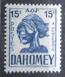 Poštovní známka Dahomey 1941 Hlava sochy, doplatní Mi# 21
