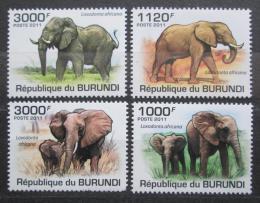 Poštovní známky Burundi 2011 Sloni Mi# 2030-33 Kat 9.50€