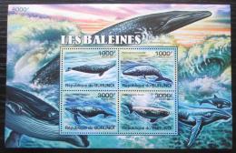 Poštovní známky Burundi 2011 Velryby Mi# Block 159