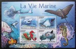 Poštovní známky Burundi 2011 Moøská fauna Mi# Block 153