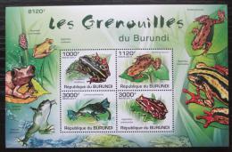 Poštovní známky Burundi 2011 Žáby Mi# Block 162