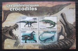 Poštovní známky Burundi 2011 Prehistoriètí krokodýli Mi# Block 163